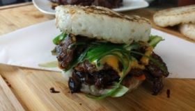 Bulgogi Steak Sandwich with Coconut Rice buns | (Korean BBQ: 불고기)