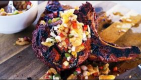 Pork Chops Recipe for Valentines Day | Grilled Pork Chops with Apricot Relish