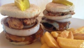 Jalapeno Pork Burger – With crispy country fried bacon