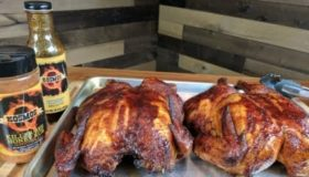 KosmoQ Killer Bee Honey Smoked Chicken Recipe