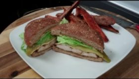 How to make a Santa Fe chicken sandwich recipe – My version of Carl Jr's Santa Fe chicken sandwich
