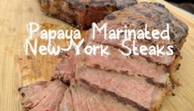 Papaya Marinated Angus New York Strip Steaks  ft. Crenova Vacuum Sealer