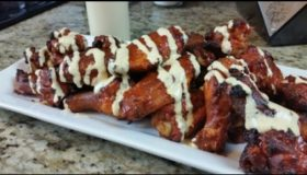 Gochujang Chicken Wings with a White BBQ sauce! | Chicken Wing Recipe