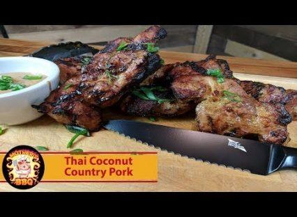 Thai Coconut Pork on the Kamado Joe Classic