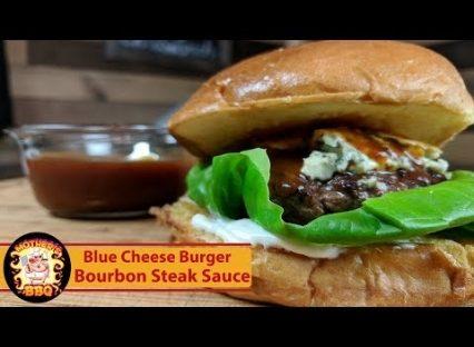 Blue Cheese Steak Burger with Kentucky Bourbon Steak Sauce